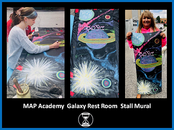 MAP Academy Galaxy Rest Room Stall Mural