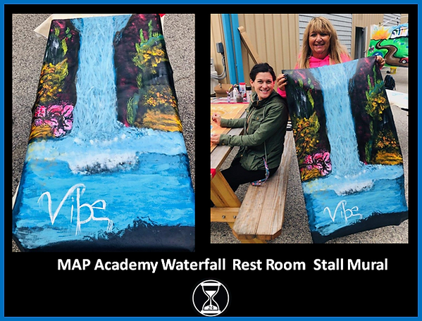 MAP Academy Waterfall Rest Room Stall Mu