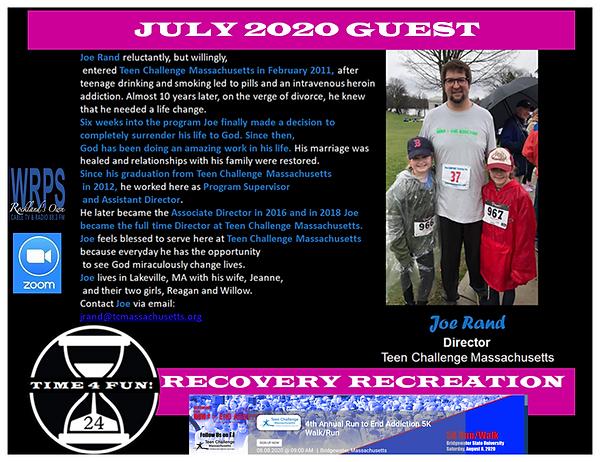 Joe Rand Teen Challenge Profile Recovery
