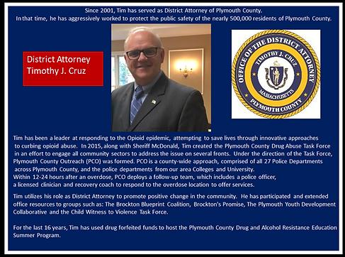 District Attorney Tim Cruz Bio for Recov