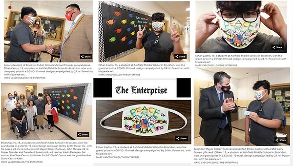 Mask Campaign Pics in Brockton Enterpris
