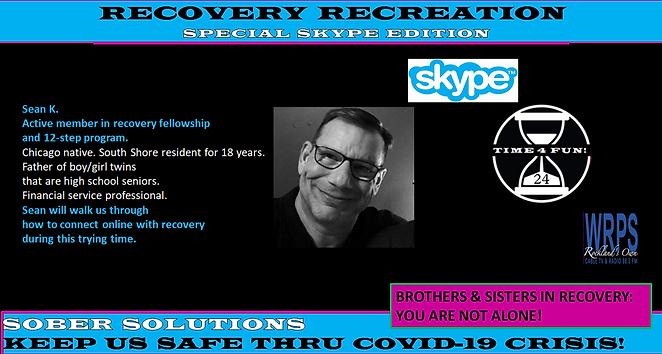 Sean K Skype Profile for Recovery Rec Sh