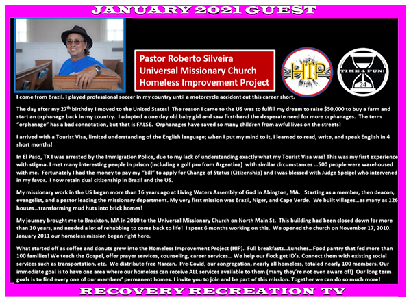 Pastor Roberto Profile Recovery Recreati
