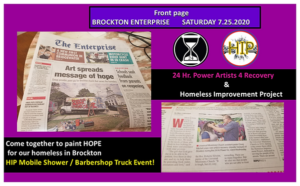 Brockton Enterprise Front Page Saturday