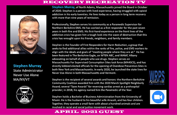 Stephen Murray Profile Recovery Rec TV A