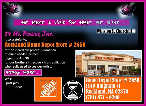 24 Hr Power Inc. Thank You Home Depot St