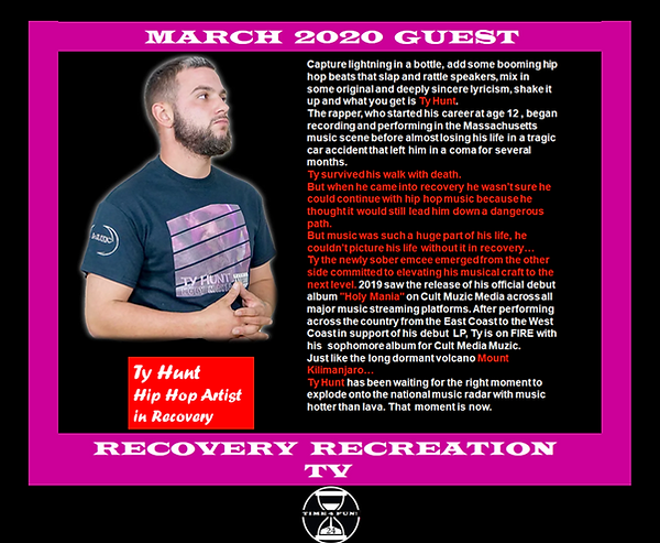 TY HUNT PROFILE RECOVERY REC TV MARCH 20