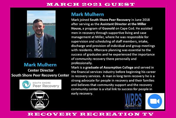 Mark Mulhern Profile Recovery Rec TV Mar
