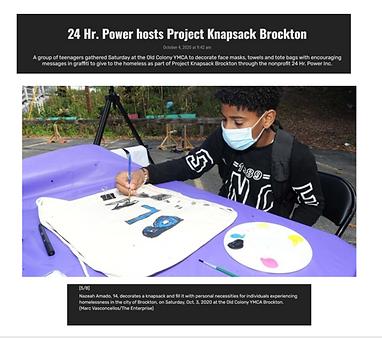 Projeck Knapsack Brockton Enterprise Pic