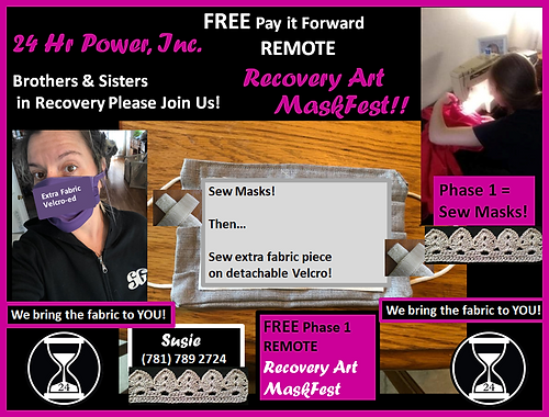 24 Hr Power Remote Recovery Art MaskFest