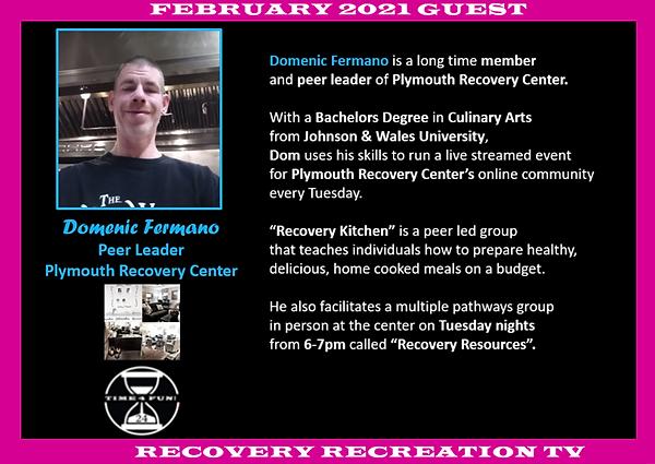 Domenic Fermano Profile Recovery Rec TV