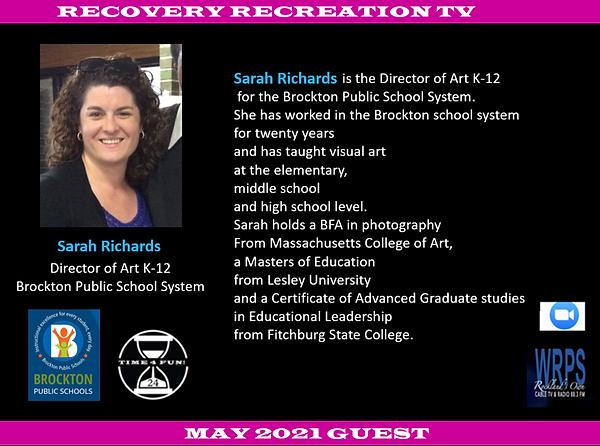 Sarah Richards Profile Recovery Rec TV M