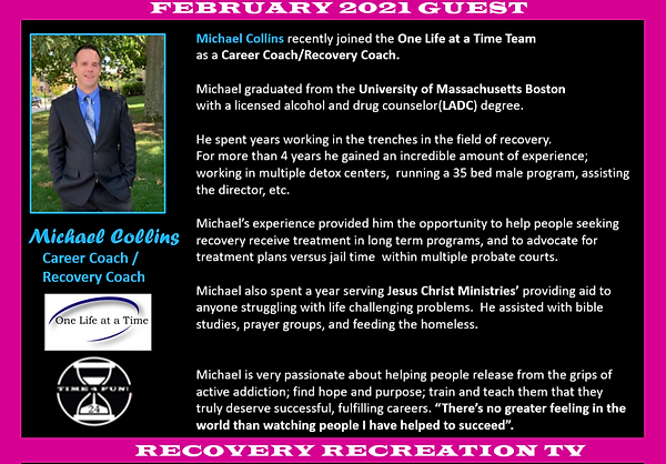Michael Collins Profile Recovery Rec TV.