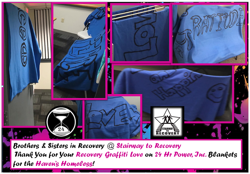 STR Recovery Graffiti Blankets for the H