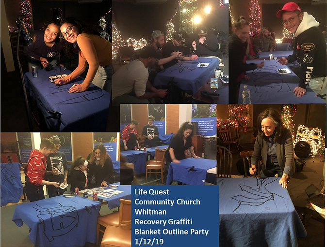 Recovery Graffiti Blanket Party  for the