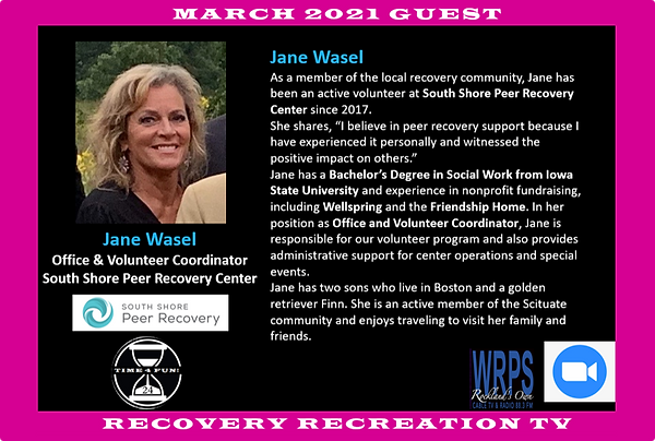 Jane Wasel Profile Recovery Rec TV March