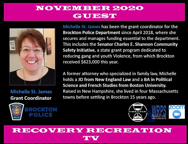 Michelle St. James Recovery Rec TV Profi