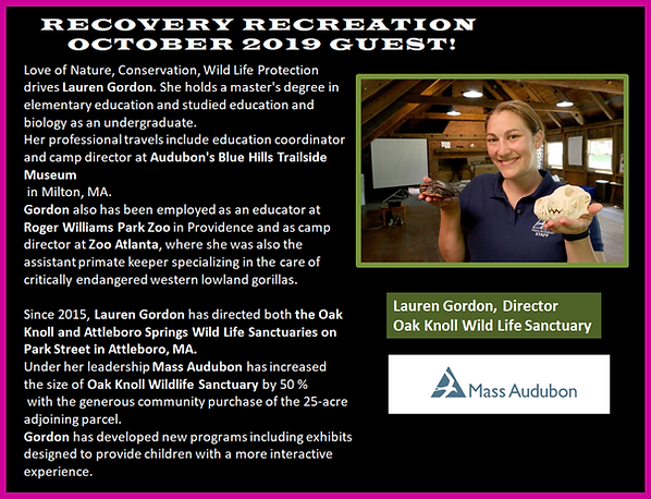 Lauren Gordon Profile for Recovery Rec O