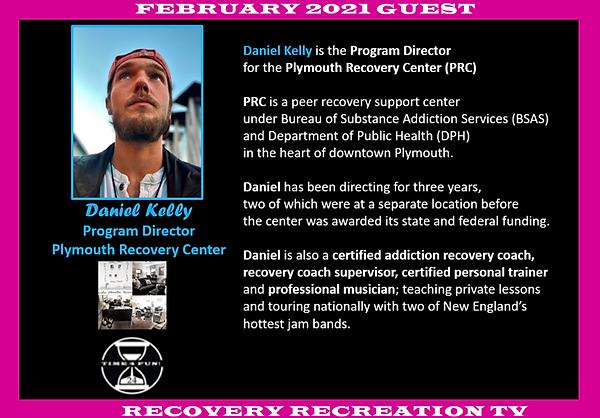 Dan Kelly Profile Recovery Rec TV Feb 20