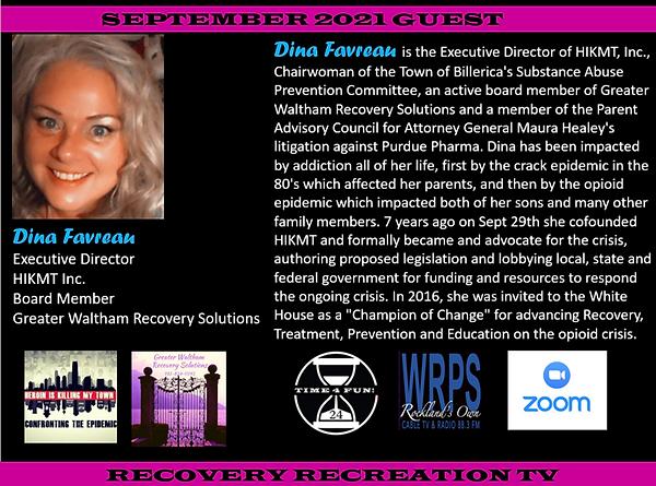 Dina Favreau Profile Recovery Rec TV September 2021.png
