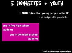 E Cigarettes and Youth Recovery Graffiti