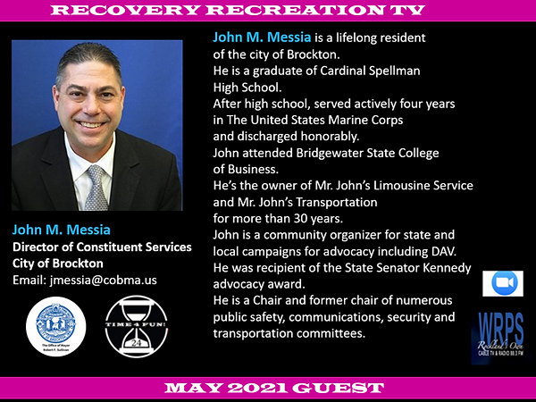 JOHN MESSIA RECOVERY REC TV PROFILE MAY