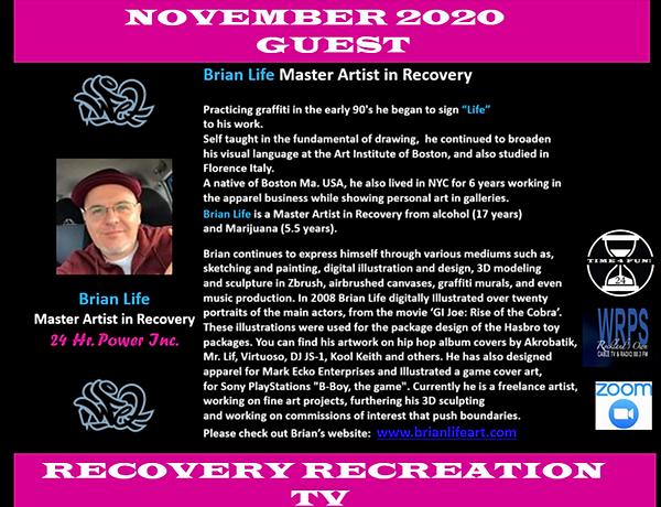 Brian Life Recovery Rec TV Profile Novem