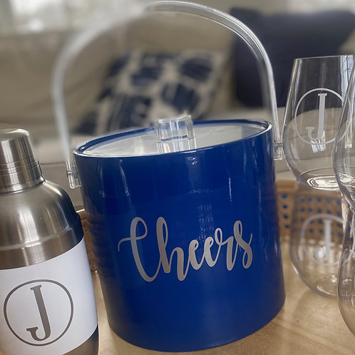 Ice Bucket & Wine Glasses