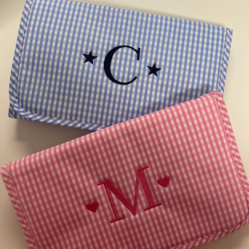 Gingham Changing Pad