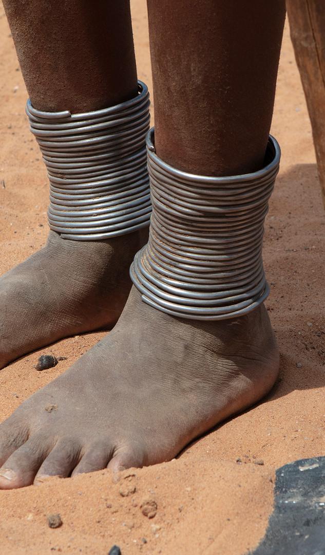 Himba feet shot in the Kraal in Kaokaland - (c) Carolyn Strover