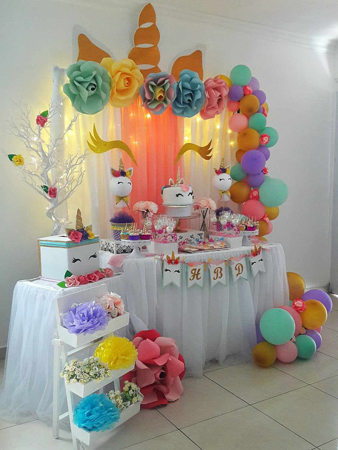 Decoración Unicornio Baby Shower