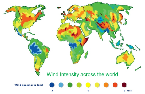 World Wind Energy Resource Map
