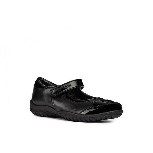 Geox Jr Shadow J84A6B Girls Velcro Patent 26-33