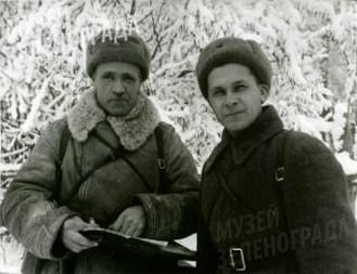 Командир полка С.В. Стариков и комисар полка П.И. Клыков