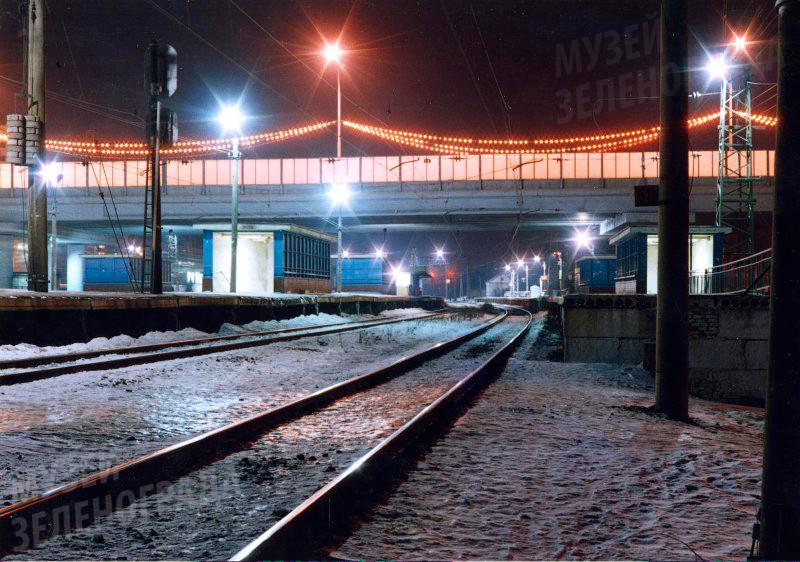 Фотография цветная. Станция Крюково. Направление в Москву.