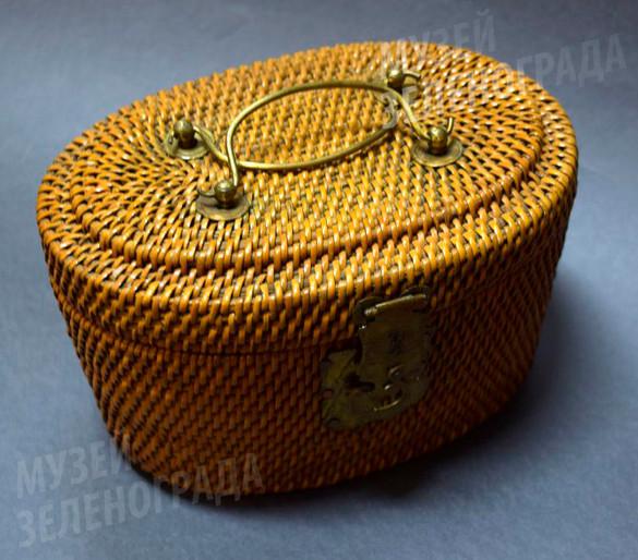 Корзина-термос плетеная, из набора дорожного