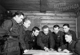 Командование 1075 полка 8 гв. стр. дивизии им. И.В. Панфилова.