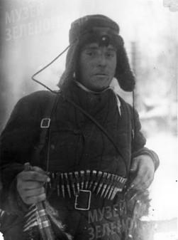 Командир отряда автоматчиков лейтенант К.А.Ашихман
