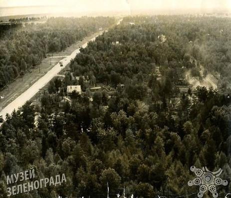 Фотография ч/б. Крюковское шоссе
