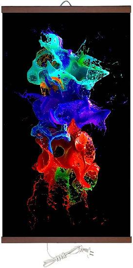 Гъвкав настенен инфрачевен нагревател- картина (450W, дизайн - Цветни петна)