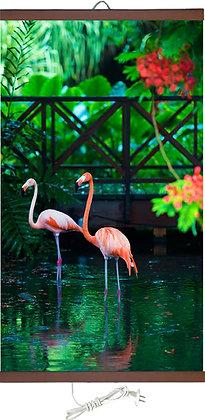 Гъвкав настенен инфрачевен нагревател- картина (450W, дизайн -Розовото фламинго)