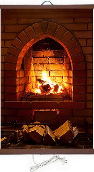 Гъвкав настенен инфрачевен нагревател- картина  (450W, дизайн - Каменна Камина)