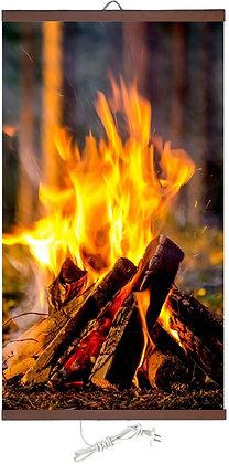 Гъвкав настенен инфрачевен нагревател- картина (450W, дизайн - Огън)