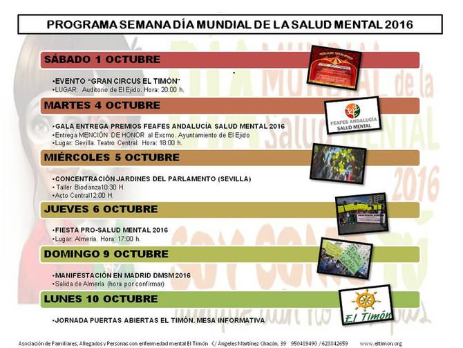 Programa Día Mundial Salud Mental 2016