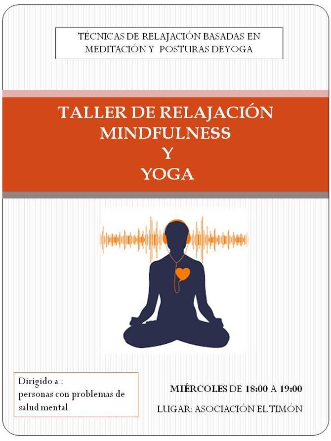 Taller de relajación Mindfulness y Yoga