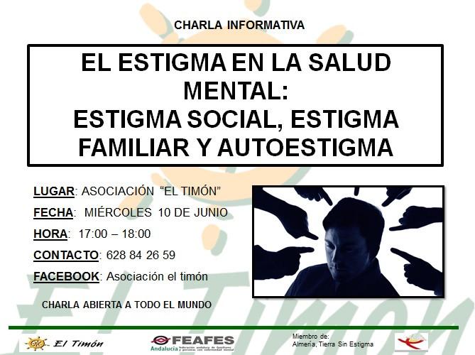 Charla Informativa: Estigma en Salud Mental: estigma social, estigma familiar y autoestigma