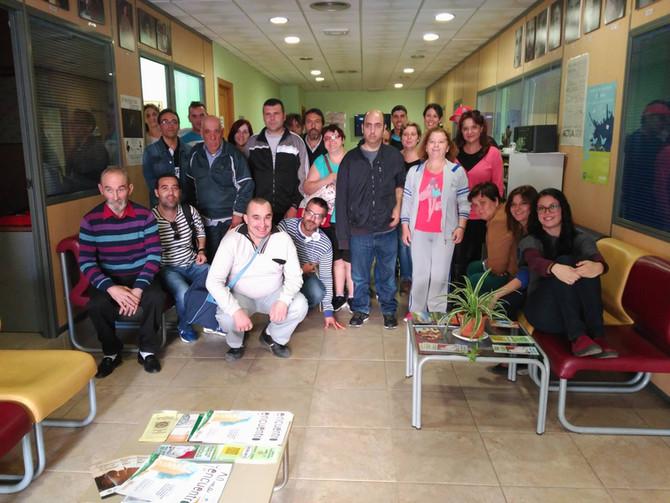 Visita de los usuarios del Hospital de Día