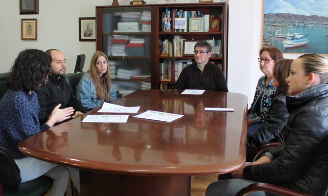 Reunión con Manuel Cortés, Alcalde de Adra