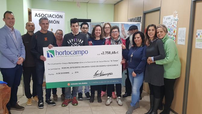 Entrega cheque solidario Hortocampo