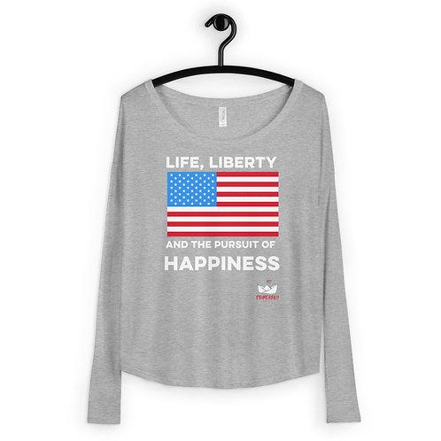 Life, Liberty, and Happiness Tee, Womens